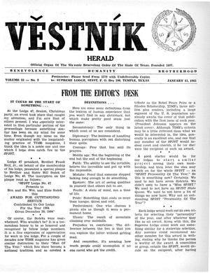 Primary view of object titled 'Věstník (West, Tex.), Vol. 53, No. 2, Ed. 1 Wednesday, January 13, 1965'.