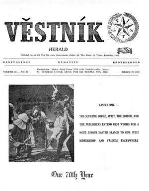 Primary view of object titled 'Věstník (West, Tex.), Vol. 55, No. 12, Ed. 1 Wednesday, March 22, 1967'.