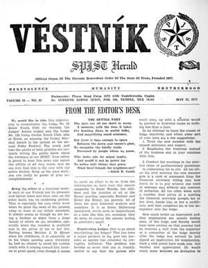 Primary view of object titled 'Věstník (West, Tex.), Vol. 59, No. 19, Ed. 1 Wednesday, May 12, 1971'.