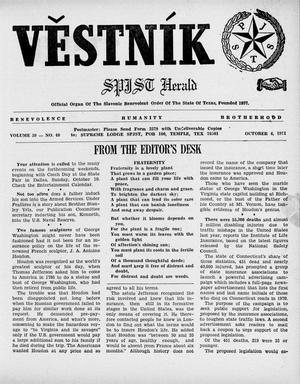 Primary view of object titled 'Věstník (West, Tex.), Vol. 59, No. 40, Ed. 1 Wednesday, October 6, 1971'.