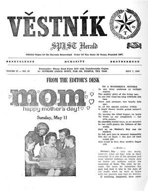 Primary view of object titled 'Věstník (West, Tex.), Vol. 57, No. 19, Ed. 1 Wednesday, May 7, 1969'.
