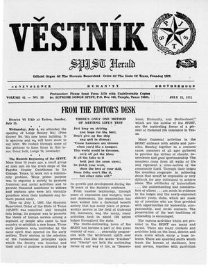 Primary view of object titled 'Věstník (West, Tex.), Vol. 61, No. 28, Ed. 1 Wednesday, July 11, 1973'.