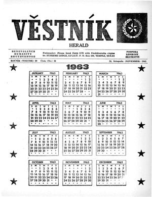 Primary view of object titled 'Věstník (West, Tex.), Vol. 50, No. 48, Ed. 1 Wednesday, November 28, 1962'.