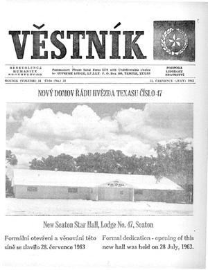 Primary view of object titled 'Věstník (West, Tex.), Vol. 51, No. 31, Ed. 1 Wednesday, July 31, 1963'.