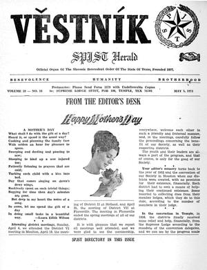 Primary view of object titled 'Věstník (West, Tex.), Vol. 59, No. 18, Ed. 1 Wednesday, May 5, 1971'.