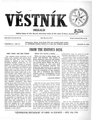 Primary view of object titled 'Věstník (West, Tex.), Vol. 53, No. 32, Ed. 1 Wednesday, August 11, 1965'.