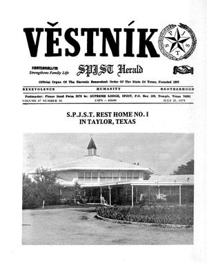 Primary view of object titled 'Věstník (West, Tex.), Vol. 67, No. 30, Ed. 1 Wednesday, July 25, 1979'.