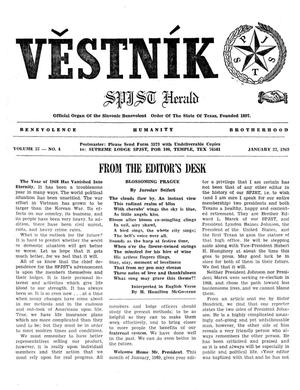 Primary view of object titled 'Věstník (West, Tex.), Vol. 57, No. 4, Ed. 1 Wednesday, January 22, 1969'.