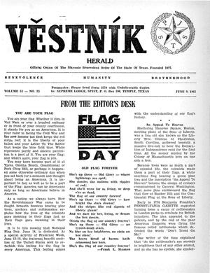 Primary view of object titled 'Věstník (West, Tex.), Vol. 53, No. 23, Ed. 1 Wednesday, June 9, 1965'.