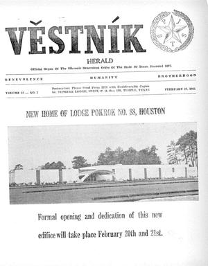 Primary view of object titled 'Věstník (West, Tex.), Vol. 53, No. 7, Ed. 1 Wednesday, February 17, 1965'.