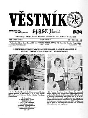 Primary view of object titled 'Věstník (West, Tex.), Vol. 67, No. 33, Ed. 1 Wednesday, August 15, 1979'.
