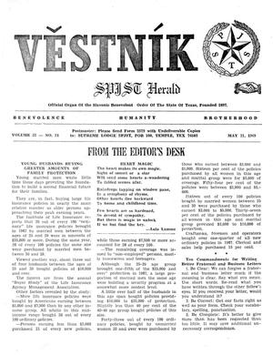 Primary view of object titled 'Věstník (West, Tex.), Vol. 57, No. 21, Ed. 1 Wednesday, May 21, 1969'.