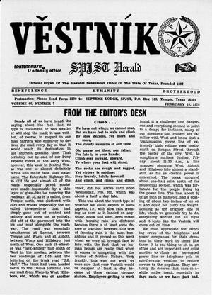 Primary view of object titled 'Věstník (West, Tex.), Vol. 66, No. 7, Ed. 1 Wednesday, February 15, 1978'.