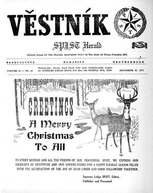 Primary view of object titled 'Věstník (West, Tex.), Vol. 59, No. 51, Ed. 1 Wednesday, December 22, 1971'.