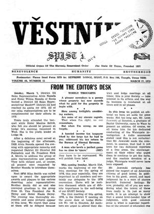Primary view of object titled 'Věstník (West, Tex.), Vol. 64, No. 11, Ed. 1 Wednesday, March 17, 1976'.