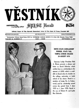 Primary view of object titled 'Věstník (West, Tex.), Vol. 66, No. 37, Ed. 1 Wednesday, September 13, 1978'.