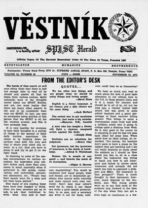 Primary view of object titled 'Věstník (West, Tex.), Vol. 66, No. 48, Ed. 1 Wednesday, November 29, 1978'.