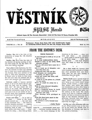 Primary view of object titled 'Věstník (West, Tex.), Vol. 61, No. 20, Ed. 1 Wednesday, May 16, 1973'.