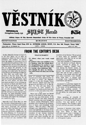 Primary view of object titled 'Věstník (West, Tex.), Vol. 67, No. 20, Ed. 1 Wednesday, May 16, 1979'.