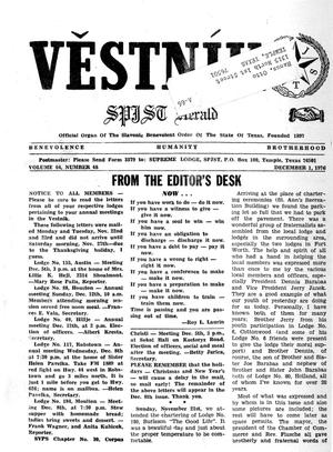 Primary view of object titled 'Věstník (West, Tex.), Vol. 64, No. 48, Ed. 1 Wednesday, December 1, 1976'.