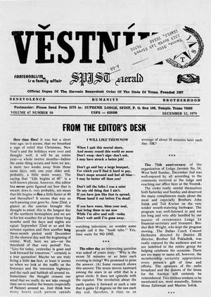 Primary view of object titled 'Věstník (West, Tex.), Vol. 67, No. 50, Ed. 1 Wednesday, December 12, 1979'.