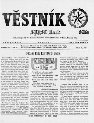 Primary view of object titled 'Věstník (West, Tex.), Vol. 61, No. 22, Ed. 1 Wednesday, May 30, 1973'.
