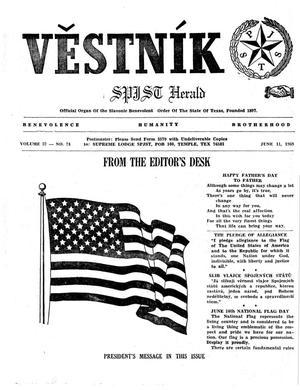 Primary view of object titled 'Věstník (West, Tex.), Vol. 57, No. 24, Ed. 1 Wednesday, June 11, 1969'.