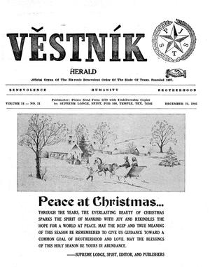 Primary view of object titled 'Věstník (West, Tex.), Vol. 54, No. 51, Ed. 1 Wednesday, December 21, 1966'.