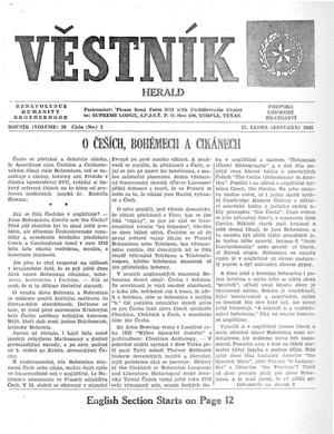 Primary view of object titled 'Věstník (West, Tex.), Vol. 50, No. 3, Ed. 1 Wednesday, January 17, 1962'.