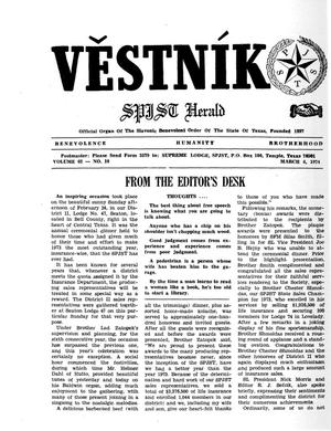Primary view of object titled 'Věstník (West, Tex.), Vol. 62, No. 10, Ed. 1 Wednesday, March 6, 1974'.