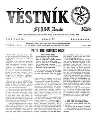 Primary view of object titled 'Věstník (West, Tex.), Vol. 57, No. 23, Ed. 1 Wednesday, June 4, 1969'.