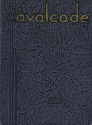 Primary view of object titled 'The Cavalcade, Yearbook of Texas Wesleyan University, 1935'.