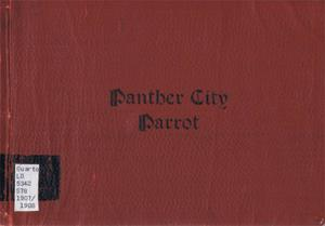 Primary view of object titled 'The Panther City Parrot, Yearbook of Polytechnic College,  1908'.