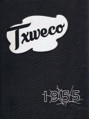 Primary view of object titled 'TXWECO, Yearbook of Texas Wesleyan College, 1955'.
