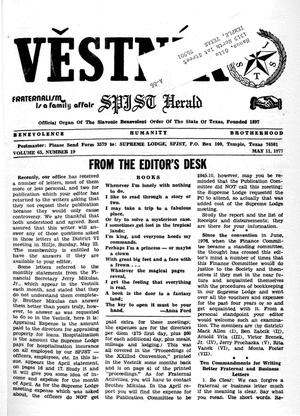 Primary view of object titled 'Věstník (West, Tex.), Vol. 65, No. 19, Ed. 1 Wednesday, May 11, 1977'.
