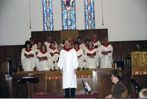 Primary view of object titled '[Choir at First United Methodist Church]'.