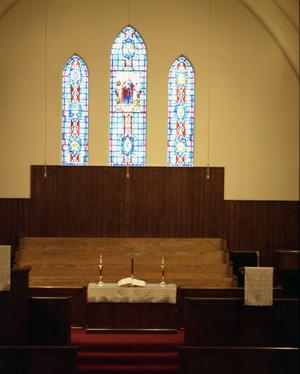 Primary view of object titled '[Sanctuary at First United Methodist Church]'.