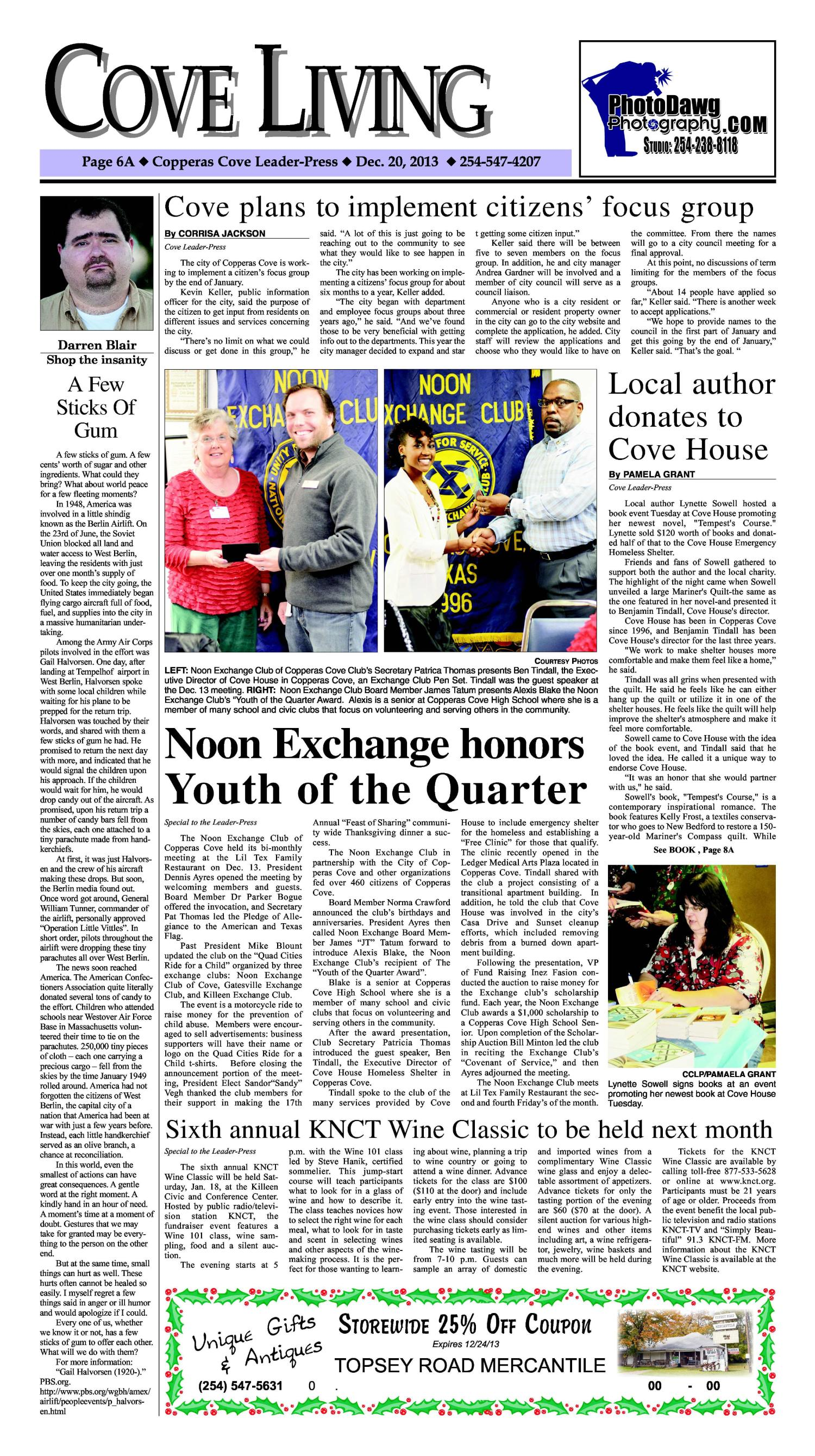 Copperas Cove Leader-Press (Copperas Cove, Tex.), Vol. 119, No. 23, Ed. 1 Friday, December 20, 2013                                                                                                      [Sequence #]: 6 of 16