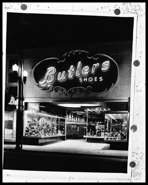 Primary view of object titled '[Butler's Shoe Store]'.