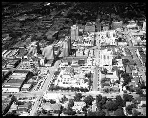 Primary view of object titled 'Aerial View of Downtown Austin'.