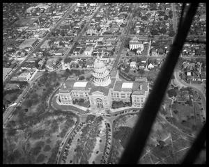 Primary view of object titled 'Aerial View of The Texas Sate Capitol'.