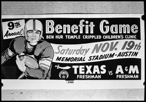 Primary view of object titled 'Ben Hur Temple Benefit Football Game'.