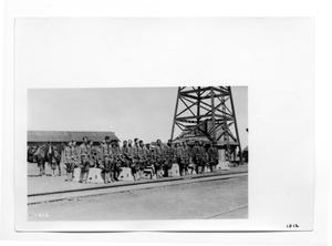 Primary view of object titled '[U.S. Soldiers Guarding Burial Caskets]'.