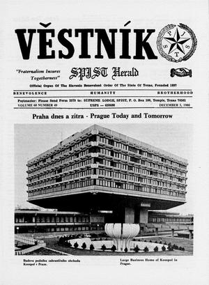 Primary view of object titled 'Věstník (West, Tex.), Vol. 68, No. 49, Ed. 1 Wednesday, December 3, 1980'.