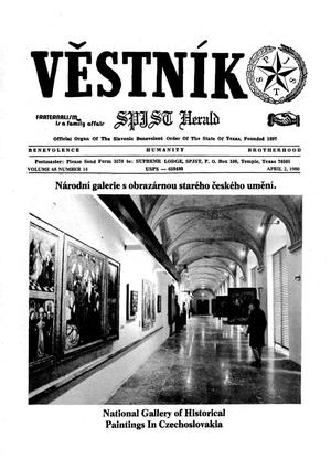 Primary view of object titled 'Věstník (West, Tex.), Vol. 68, No. 14, Ed. 1 Wednesday, April 2, 1980'.