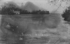[1913 flood of the Brazos River.]