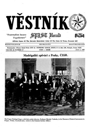 Primary view of object titled 'Věstník (West, Tex.), Vol. 68, No. 27, Ed. 1 Wednesday, July 2, 1980'.