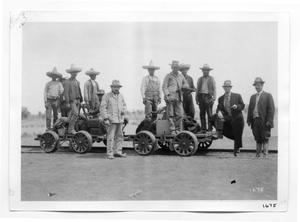 Primary view of object titled '[Mexican Railroad Workers]'.