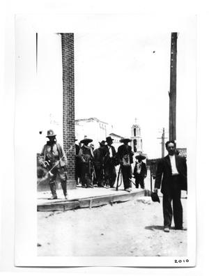 Primary view of object titled '[Revolutionaries in Juarez]'.