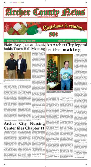 Primary view of object titled 'Archer County News (Archer City, Tex.), Vol. 106, No. 51, Ed. 1 Tuesday, December 16, 2014'.